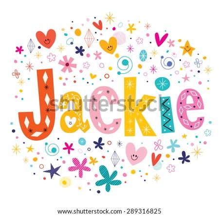 jackie girls name decorative