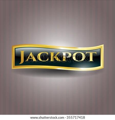 Jackpot golden emblem or badge
