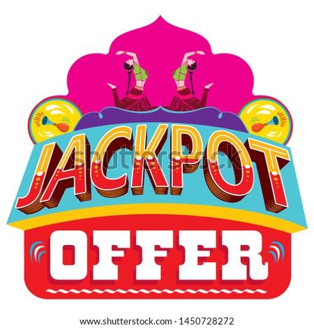 Jackpot Offer logo unit for online and offline promo