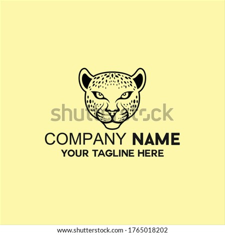 jaguar head animal logo vector