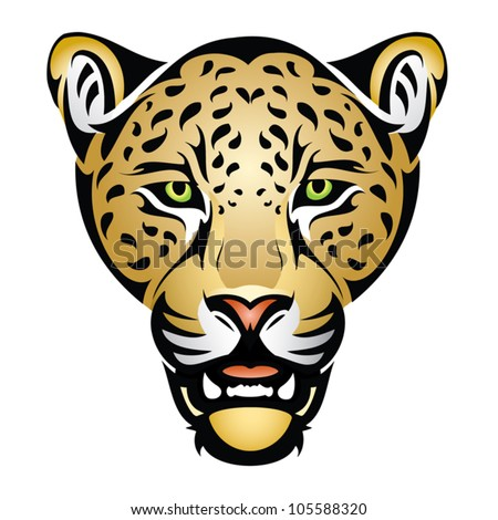 Jaguar head - vector illustration