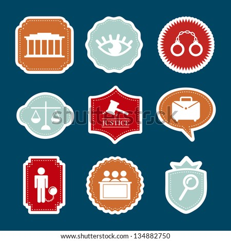 jail icons over blue background. vector illustration