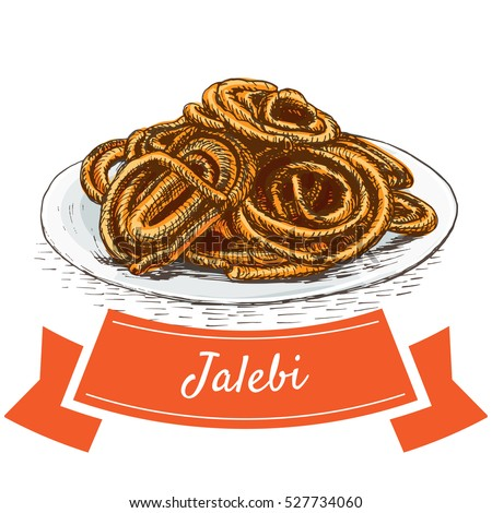 jalebi colorful illustration