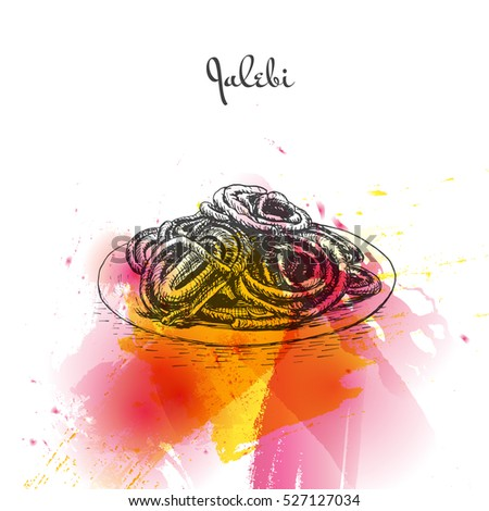 jalebi watercolor effect