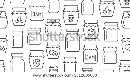 jam seamless pattern with