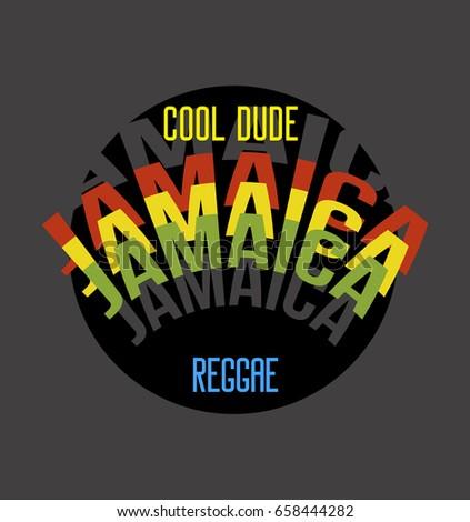 jamaica cool dude t shirt print
