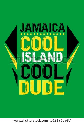 jamaica cool island cool dude,t-shirt design fashion vector