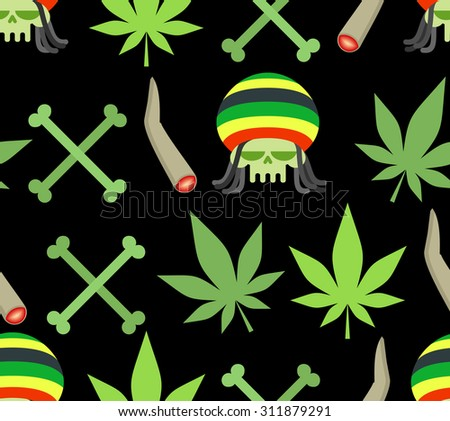 jamaica drugs seamless pattern