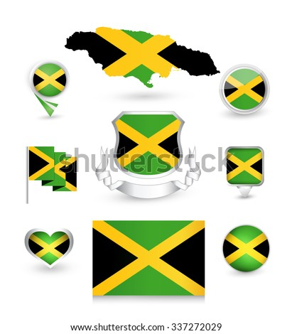 jamaica flag collection vector