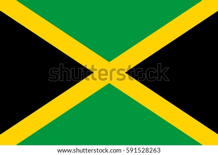 jamaica flag  official colors