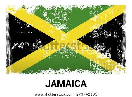 jamaica grunge flag isolated