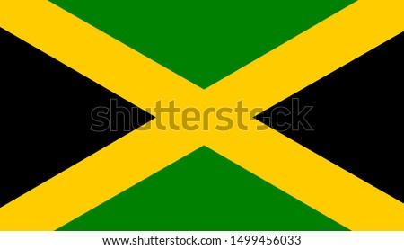 jamaica original flag. vector background