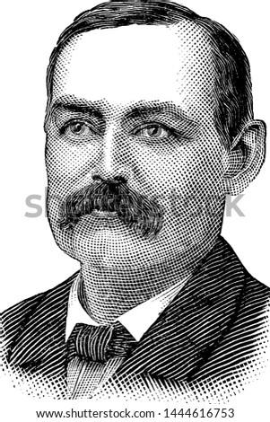 James W. Hyatt, vintage illustration