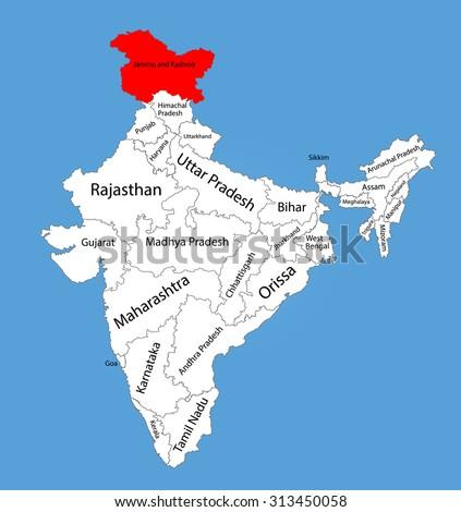 Jammu and kashmir map Random Royalty-Free Vectors | Imageric com
