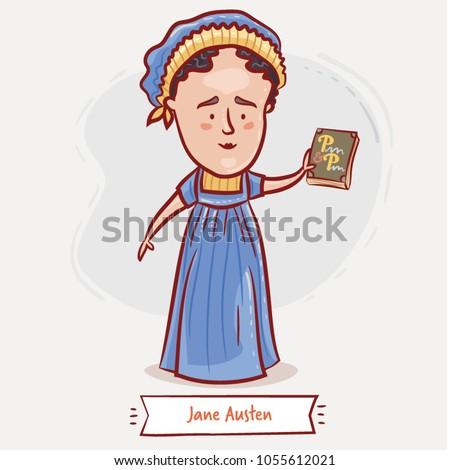 jane austen with her major novel