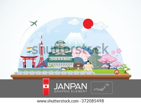 janpan infographic travel place