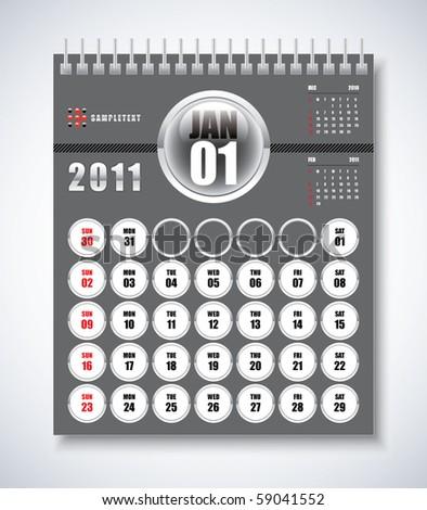 january calendars. january calendar for 2011.