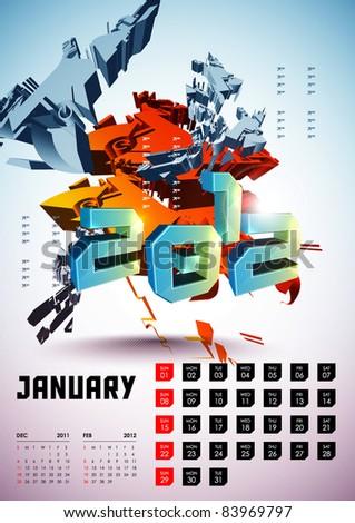 January - Calendar Design 2012