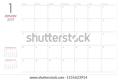 stock-vector-january-desk-calendar-vector-illustration-simple-and-clean-design