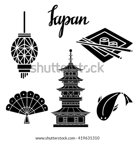 japan black silhouettes