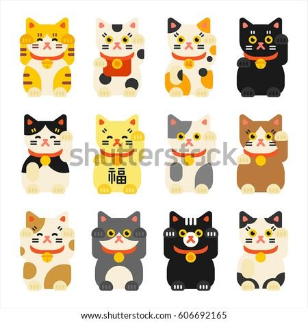 japan blessed cat traditional