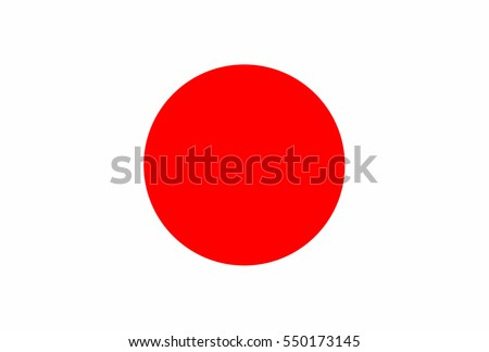 japan flag  official colors and