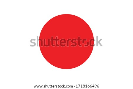 japan flag vector graphic