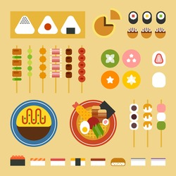 japan food vector illustration flat design