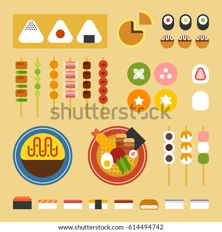 japan food vector illustration