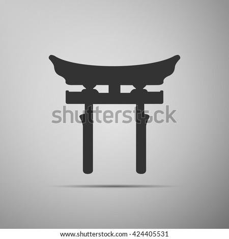 japan gate torii gate icon on