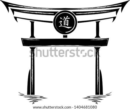 japan gate torii silhouette