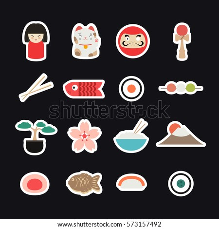 japan icons  stickers japanese