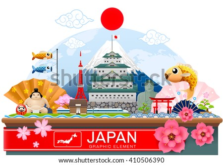 japan infographic travel place