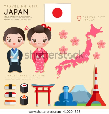 japan   infographic with