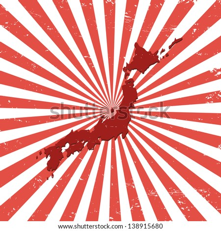 japan on the map