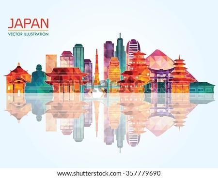 japan skyline silhouette