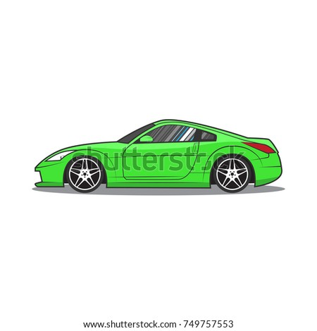 Japan Sport Car Car Sketch Side View Ez Canvas