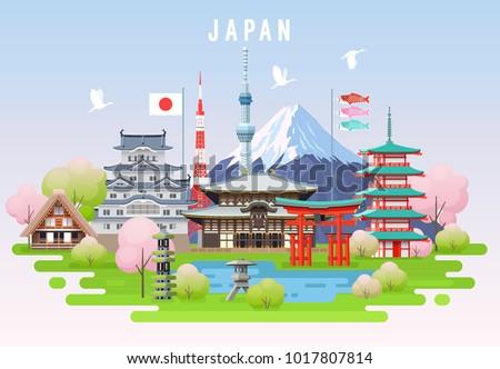 japan spring travel infographic