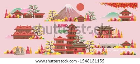 japan style building beautiful