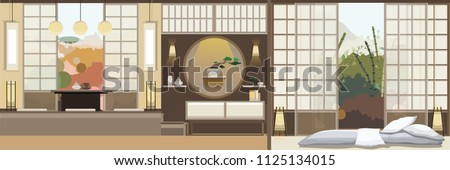 japan style living room with