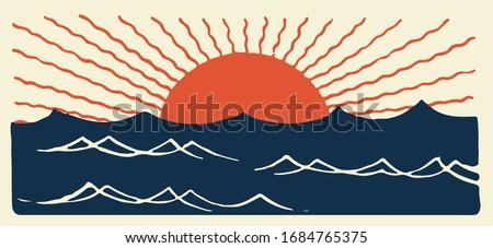 japan sunset  japan sea and sun