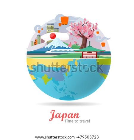 japan tourism poster design