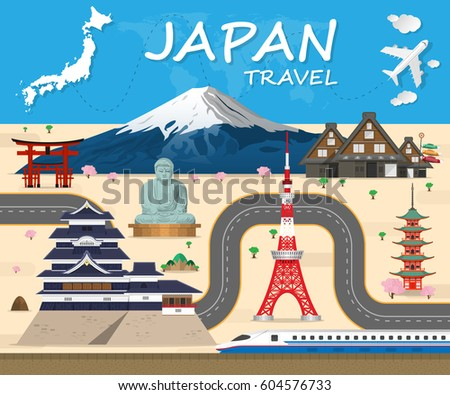 japan travel background