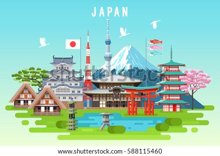 japan travel infographic
