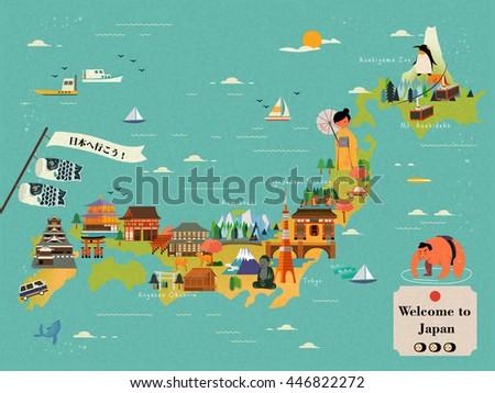 japan travel map design   let's