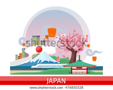 japan vector concept vacation