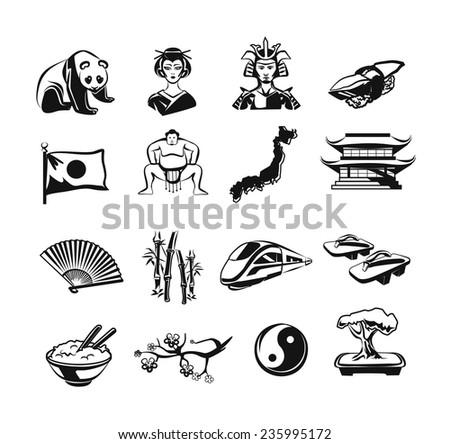 japan vector outline doodle