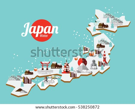 Japanese Icons Download Free Vector Art Stock Graphics Images - Japan map cartoon