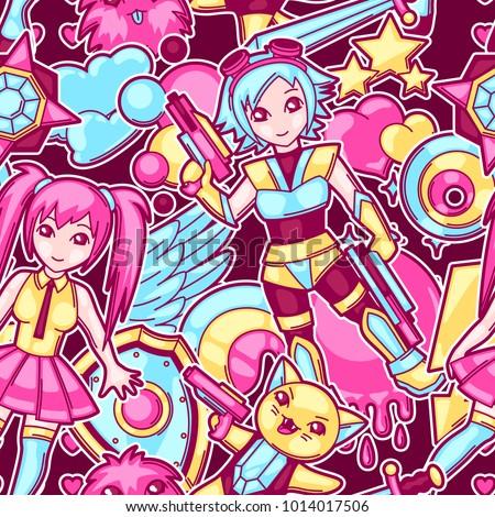 japanese anime cosplay seamless