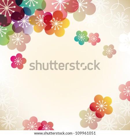 Japanese Vector Wallpaper Japanese Apricot Background